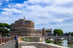 ` Angelo de Castel Sant conhecido igualmente como Mausoleo di Adriano, Roma, Itália imagem de stock royalty free