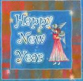 Angelo del buon anno Immagini Stock Libere da Diritti