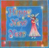 Angelo del buon anno Fotografie Stock Libere da Diritti
