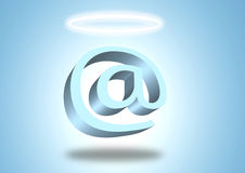 Angelo del email Immagine Stock