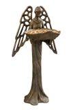 Angelo dell'alimentatore dell'uccello con il percorso di residuo della potatura meccanica Fotografie Stock