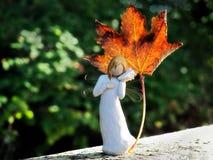 Angelo dell'autunno Fotografie Stock Libere da Diritti