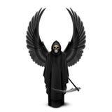 Angelo della morte con due ali Immagini Stock
