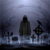 Angelo della morte nel cimitero Fotografia Stock