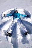 Angelo della neve Fotografia Stock