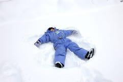 Angelo della neve Immagini Stock