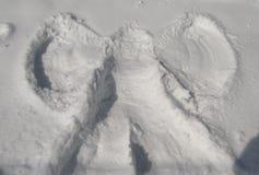 Angelo della neve Fotografie Stock