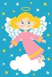 Angelo della ragazza sulla nuvola royalty illustrazione gratis
