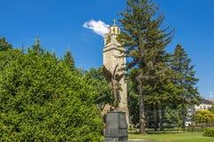Angelo della torre e del monumento di orologio in Bitola, Repubblica Macedone Fotografie Stock Libere da Diritti