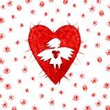 Angelo di amore con cuore Fotografia Stock Libera da Diritti
