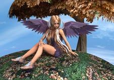 Angelo di autunno Fotografia Stock