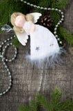 Angelo di bianco di Natale Fotografie Stock Libere da Diritti