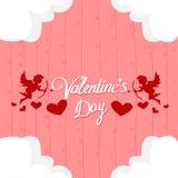 Angelo di forma del cuore di amore di Valentine Day Gift Card Holiday Fotografia Stock Libera da Diritti