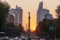 Angelo di indipendenza, Città del Messico fotografia stock