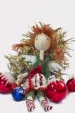 Angelo di Natale con i giocattoli Immagine Stock