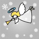 Angelo di Natale di vettore Immagini Stock Libere da Diritti