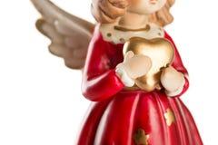 Angelo di Natale isolato su fondo bianco Fotografie Stock Libere da Diritti