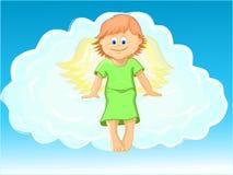 Angelo di natale su una nube Fotografia Stock