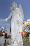 Angelo di pietra bianco Immagini Stock