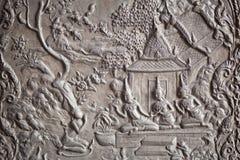 Angelo di pietra intagliato immagini stock libere da diritti