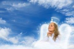 Angelo di preghiera Immagini Stock Libere da Diritti