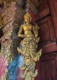 Angelo di scultura di legno Immagini Stock Libere da Diritti