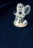 Angelo di vetro che gioca la flauto Immagini Stock