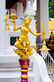 Angelo dorato a Wat Pra Kaeo, Tailandia Fotografia Stock