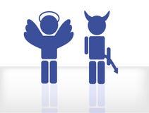 Angelo e diavolo Immagine Stock