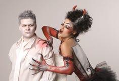 Angelo e diavolo Fotografia Stock