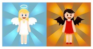 Angelo e diavolo Immagini Stock Libere da Diritti
