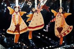Angelo fatto a mano del giocattolo della decorazione di Natale Immagine Stock Libera da Diritti