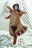 Angelo fatto a mano del giocattolo della decorazione di Natale Immagini Stock Libere da Diritti