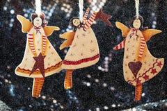 Angelo fatto a mano del giocattolo della decorazione di Natale Immagine Stock
