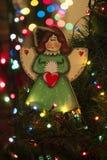 Angelo fatto a mano del giocattolo della decorazione di Natale Giocattoli dell'albero di Natale, Immagine Stock