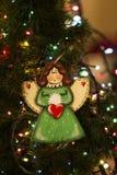 Angelo fatto a mano del giocattolo della decorazione di Natale Giocattoli dell'albero di Natale, Fotografia Stock Libera da Diritti