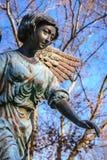 Angelo femminile in blu Fotografia Stock