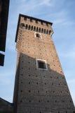 ` Angelo Lodigiano Италия Sant: средневековый замок стоковые фото