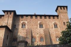` Angelo Lodigiano Италия Sant: средневековый замок Стоковое фото RF
