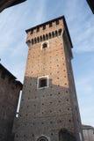 ` Angelo Lodigiano Италия Sant: средневековый замок стоковая фотография