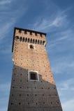 ` Angelo Lodigiano Италия Sant: средневековый замок стоковая фотография rf