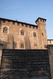 ` Angelo Lodigiano Италия Sant: средневековый замок стоковое изображение rf
