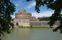 ` Angelo - Mausoleo di Adriano - Roma - Itália de Castel Sant Fotografia de Stock Royalty Free