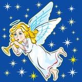 ANGELO NEL CIELO Immagine Stock
