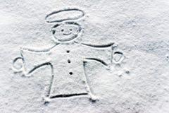 Angelo nella neve fotografia stock