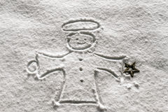 Angelo nella neve Fotografie Stock Libere da Diritti