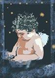 Angelo nello scuro Fotografia Stock