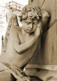 Angelo pacifico di sonno Fotografie Stock