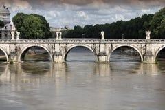 Angelo ponte Ρώμη sant Στοκ Εικόνα