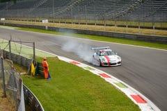 Angelo Proietti, Porsche Carrera-Schale 2015 in Monza Lizenzfreie Stockfotos